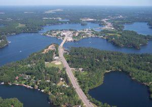 aerial view of minocqua 11070 Bellwood Dr Ste 42, Minocqua, WI 54548